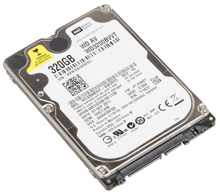 """WD HDD 2,5"""" - 320 GB"""