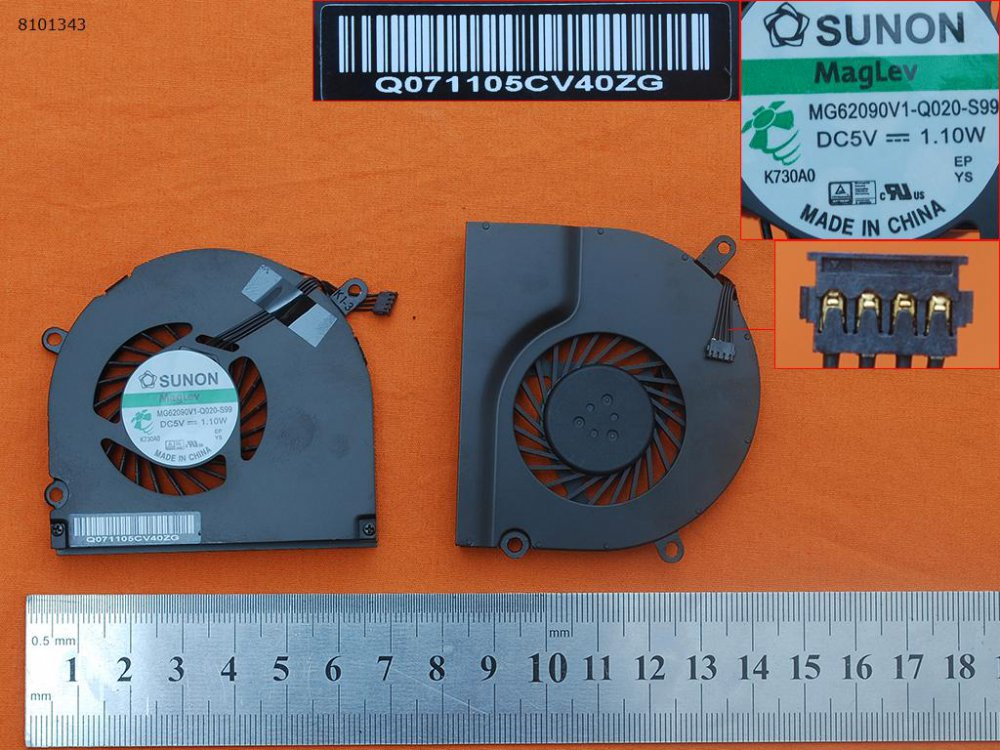 Ventilátor Apple MacBook Pro A1286